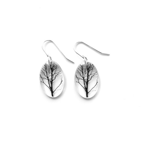 Small oval Tree earring