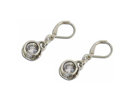 Round Swarovski hook earring
