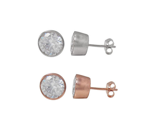 4mm round post earring