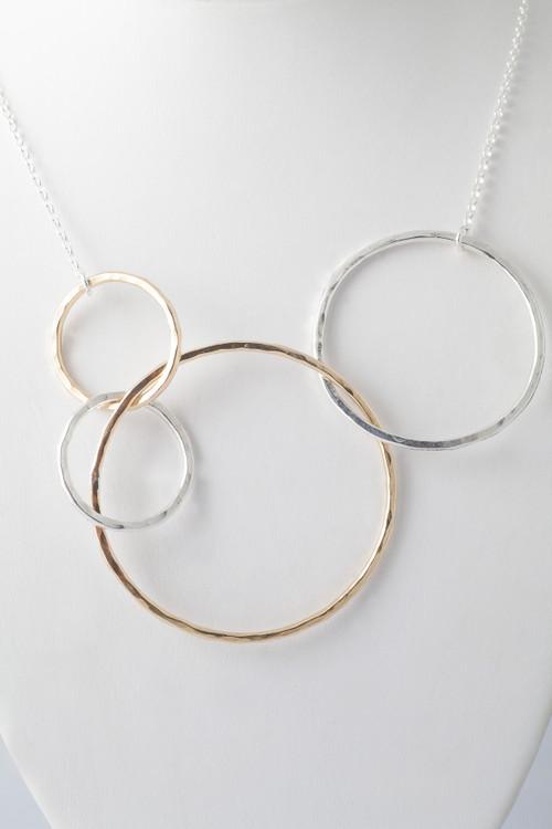 Multi link necklace-14k/sterling