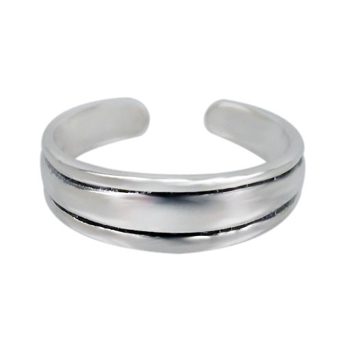 3 band toe ring