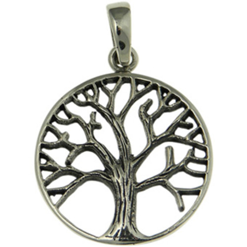 Oxidized tree of life pendant