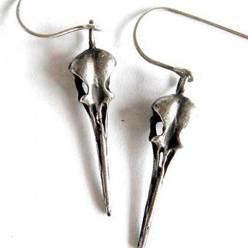 Hummingbird skull earring