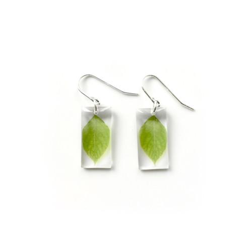 "Small leaf earring 3/4"""