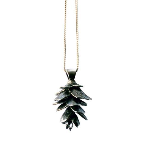 Pine cone pendant on chain