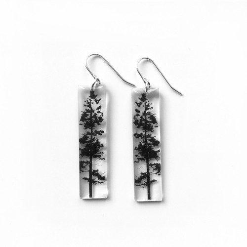 """Tall forest earring 1 1/2"""""""