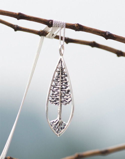 Rooted Tree of life necklace