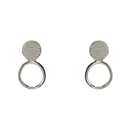 Open circle post earring