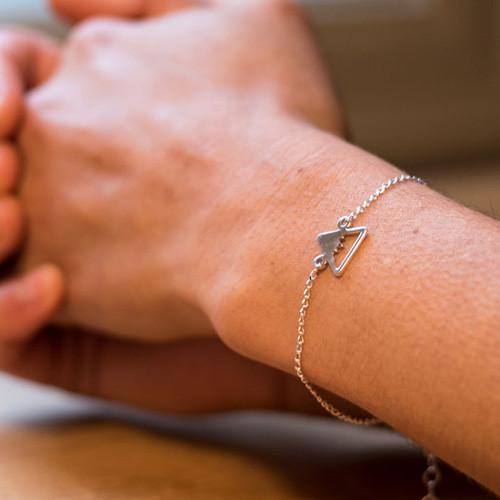 Summit silver bracelet