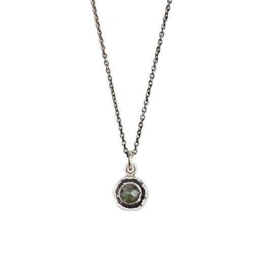 Facet stone talisman-labradorite/sterling