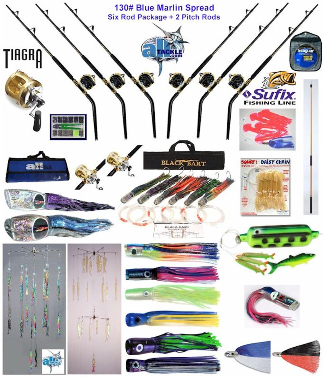Alltackle Blue Marlin 130# Trolling Spread Package w/ Shimano Reels