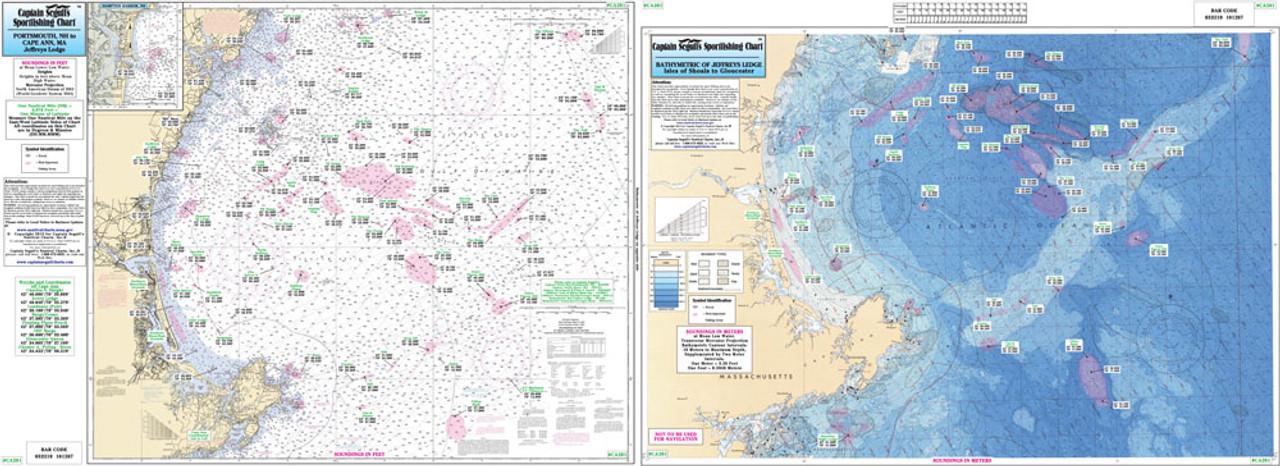 Captain Segull Chart Cape Ann To Jeffreys Ledge