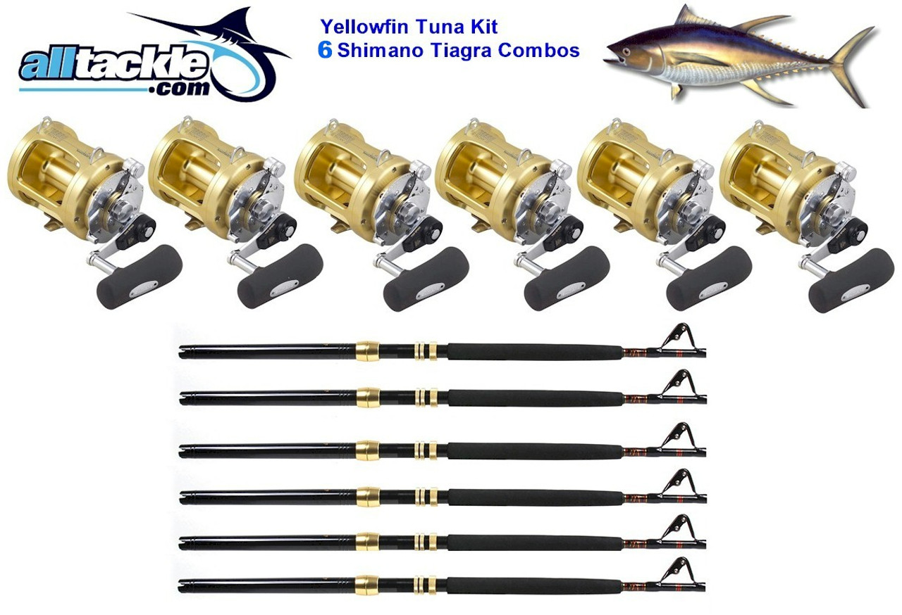 Alltackle 6 Combo Package - Shimano Tiagra 50# Reels, Rods and Line