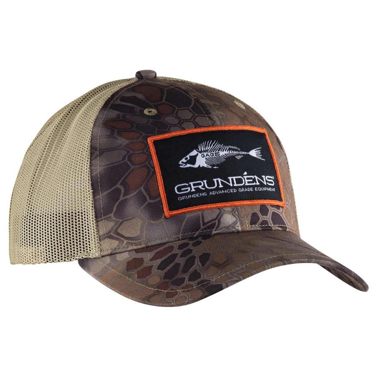 fc512720a Grundens Trucker Cap Eat Fish Wear Grundens Kryptek Highlander Camo