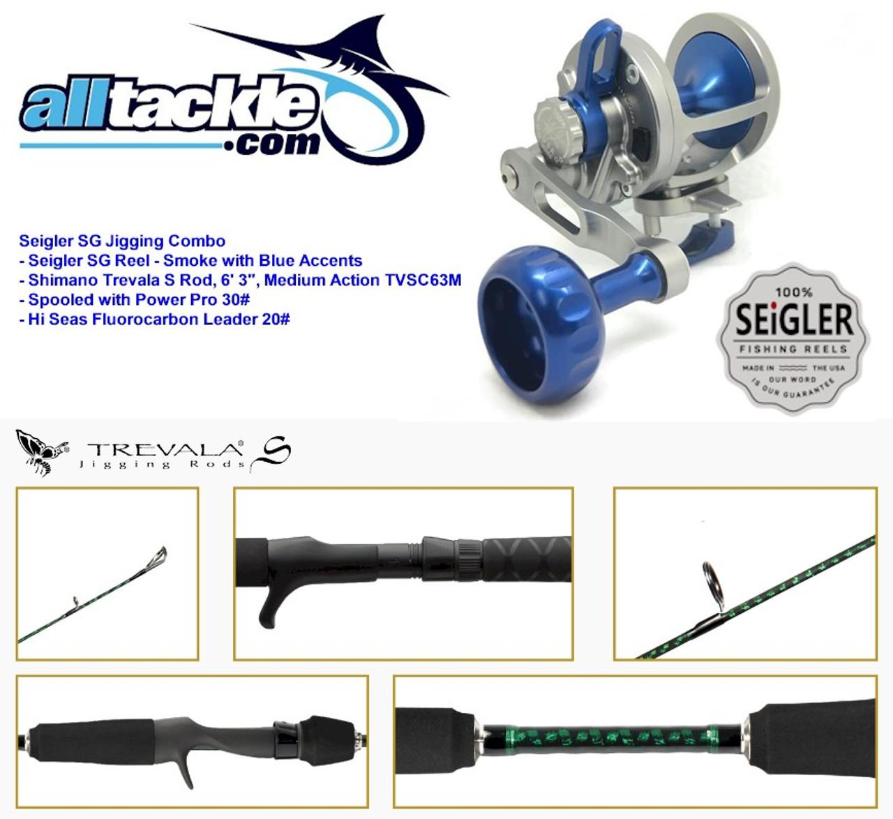 25627f41618 Seigler Combo - SG Reel with Shimano Trevala S Jigging Rod - Alltackle.com