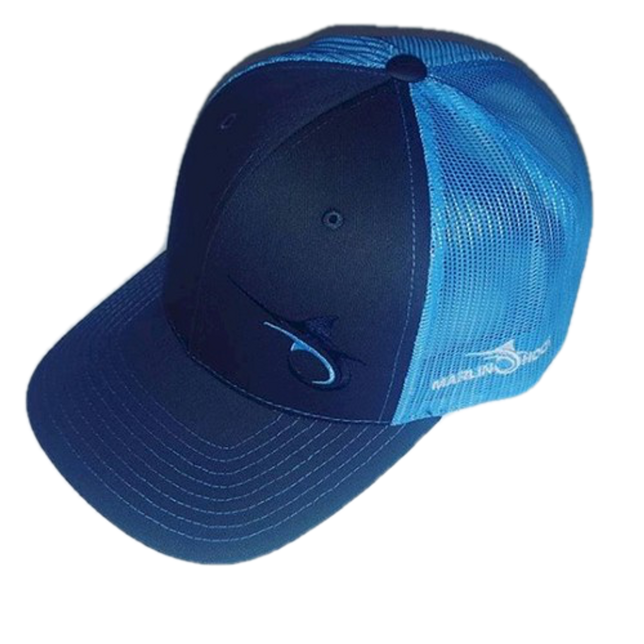 c7785065af45f Marlin Hook Trucker Hat - Columbia Blue Charcoal - Alltackle.com