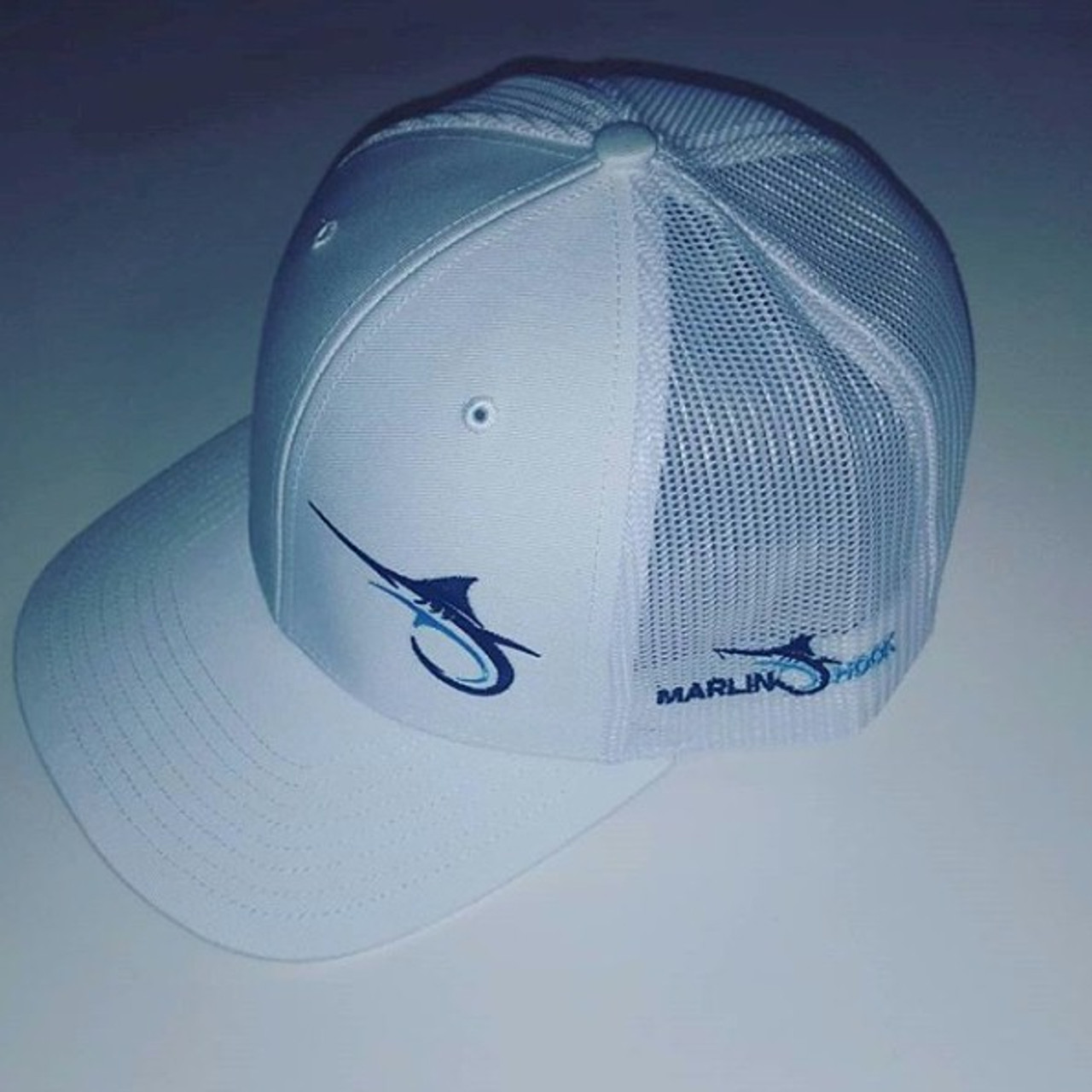 b9bcbf878de53 Marlin Hook Trucker Hat - White - Alltackle.com