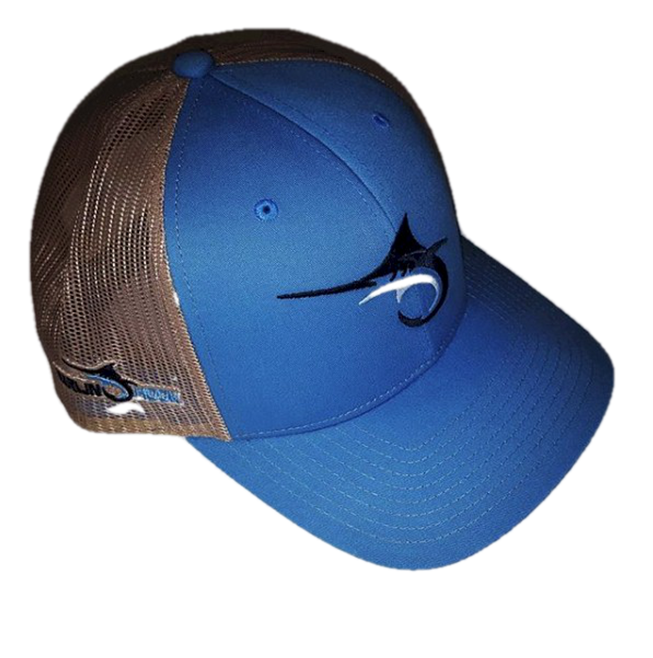 42b026024e734 Marlin Hook Trucker Hat - Symbol - Columbia Blue Tan - Alltackle.com