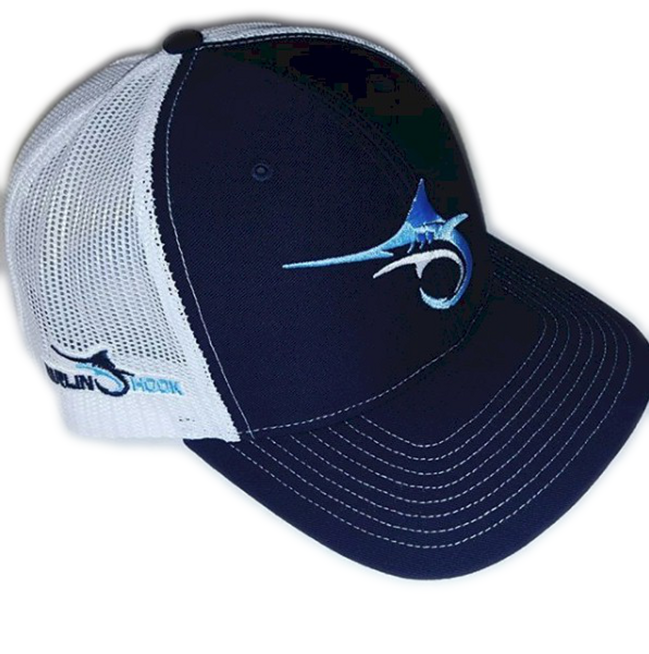 5431b88026451 Marlin Hook Trucker Hat - Symbol - Navy White - Alltackle.com
