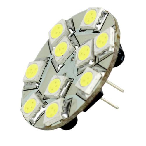 Lunasea G4 10 Back Pin LED Light Bulb - 12VAC or 10-30VDC\/2W\/140 Lumens - Warm White