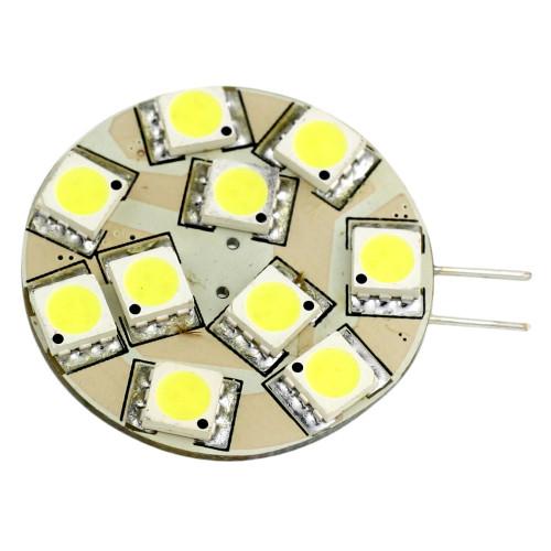 Lunasea G4 12 LED Side Pin Light Bulb - 12VAC or 10-30VDC 2W\/140 Lumens - Warm White