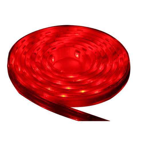 Lunasea Flexible Strip LED - 5M w\/Connector - Red - 12V