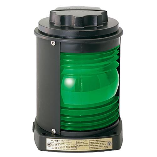 Perko Side Light - Black Plastic, Green Lens