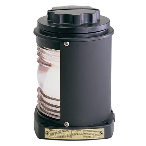 Perko Stern Light - Black Plastic, White Lens