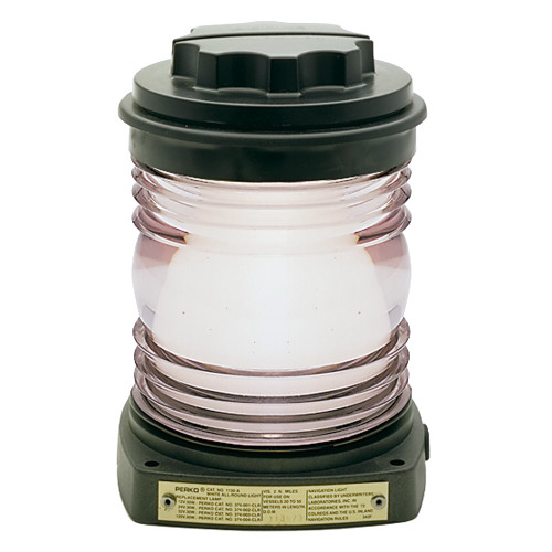 Perko All-Round Light - Black Plastic, White Lens