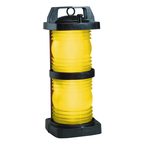 Perko Double Lens Navigation Light - Yellow Towing Light - Black Plastic