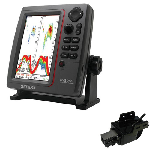 SI-TEX SVS-760 Dual Frequency Sounder 600W Kit w\/Transom Mount Triducer