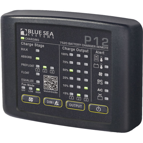 Blue Sea 7520 P12 LED Remote f\/Battery Chargers