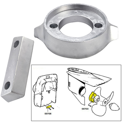 Tecnoseal Anode Kit w\/Hardware - Volvo 290 - Zinc