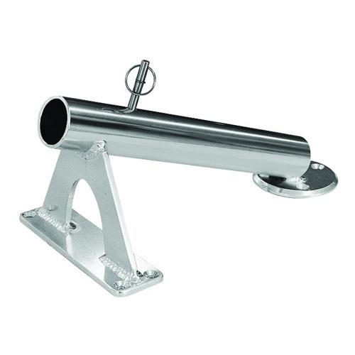 Rupp Fixed Mount Center Rigger Holder - Silver