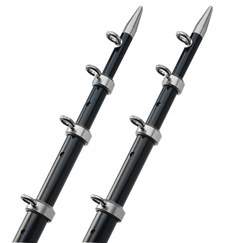 "TACO 18' Telescopic Outrigger Poles HD 1-1\/2"" - Black\/Silver"