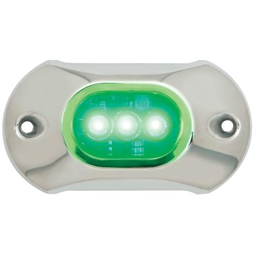 Attwood Light Armor Underwater LED Light - 3 LEDs  - Green