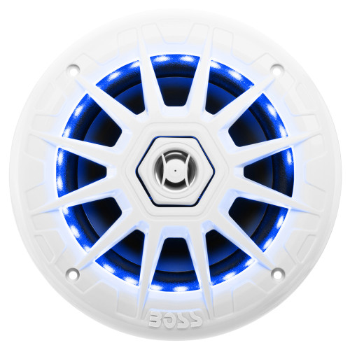 "Boss Audio MRGB65 Coaxial Marine Speaker w\/RGB LED Lights - 6.5"""