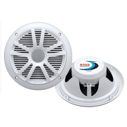 "Boss Audio MR6W 6.5"" Dual Cone Marine Coaxial Speaker (Pair) - 180W - White"