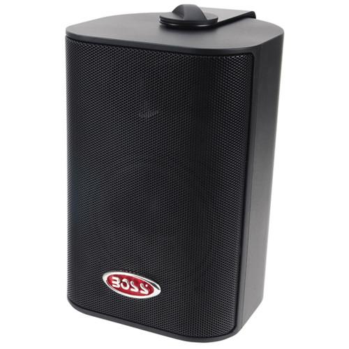 "Boss Audio MR4.3B 4"" 3-Way Marine Enclosed System Box Speaker - 200W - Black"