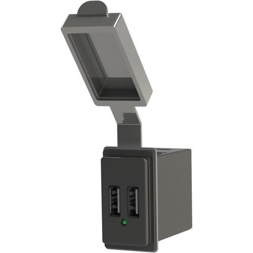 Blue Sea Dual USB Charger - 24V Contura Mount