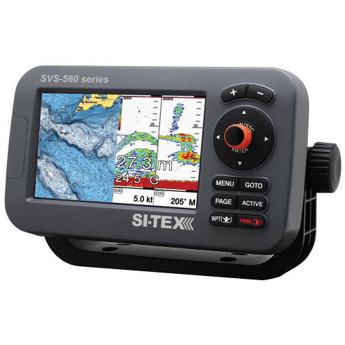 "SI-TEX SVS-560CF Chartplotter - 5"" Color Screen w\/Internal GPS & Navionics+ Flexible Coverage"