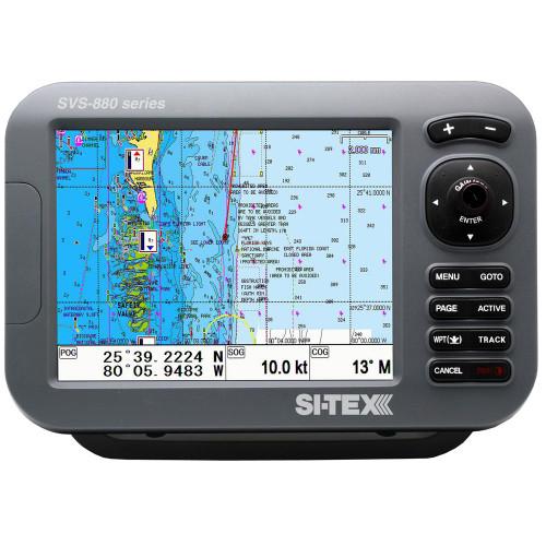 """SI-TEX SVS-880C 8"""" Chartplotter w\/Internal GPS Antenna & Navionics+ Card"""