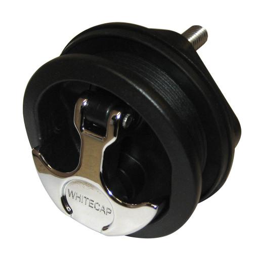 Whitecap T-Handle Latch - Chrome Plated Zamac\/Black Nylon - No Lock - Freshwater Use Only