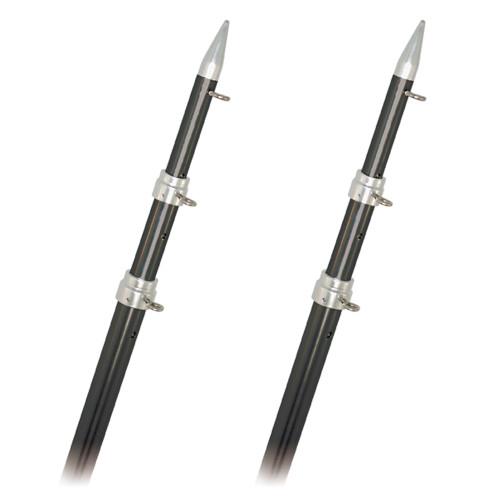 Rupp Top Gun Outrigger Poles - Fixed Length - Carbon Fiber - 18'