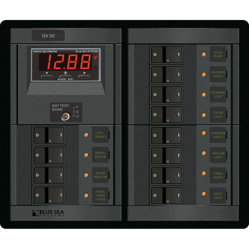 Blue Sea 12V DC 12 Position w\/Digital Meter