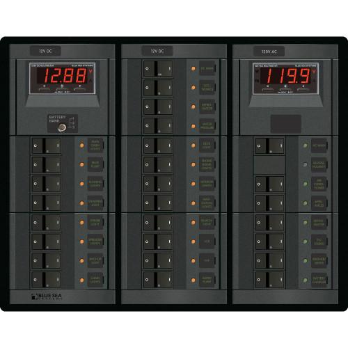 Blue Sea 12V DC Main + 19 Positions \/ 120V AC Main + 6 Positions