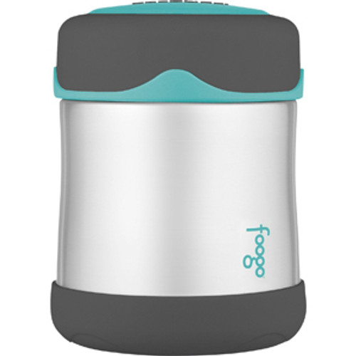 Thermos Foogo Stainless Steel, Vacuum Insulated Food Jar - Teal\/Smoke - 10 oz.