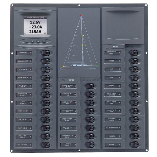 BEP Cruiser Series DC Circuit Breaker Panel w\/Digital Meters 32SP DC12V