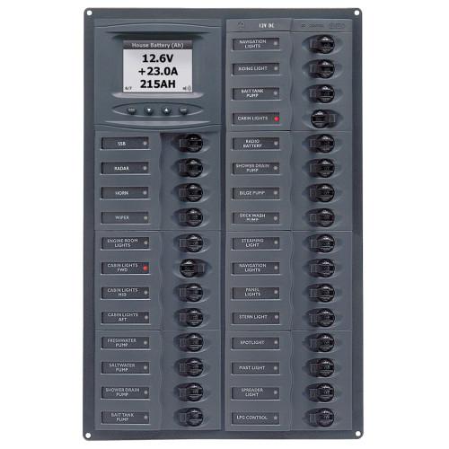 BEP Millennium Series DC Circuit Breaker Panel w\/Digital Meters, 28SP DC12V