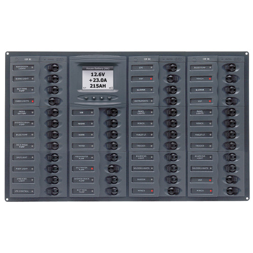 BEP Millennium Series DC Circuit Breaker Panel w\/Digital Meters, 44SP DC12V Horizonal